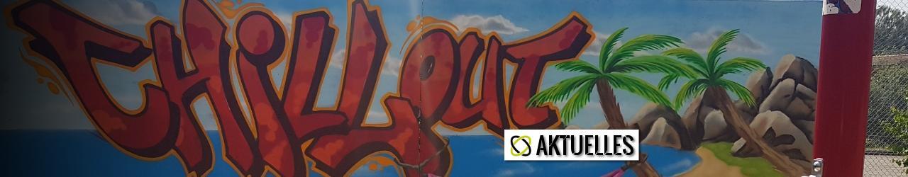 Grafitti-Künstler und Kunstkurs der MCS verschönern Mauer